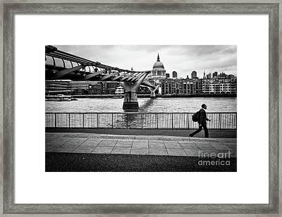 millennium Bridge 02 Framed Print