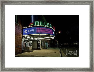 Miller Theater Augusta Ga 2 Framed Print