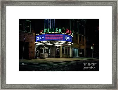 Miller Theater Augusta Ga Framed Print