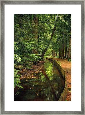 Millrace By John Cable Framed Print