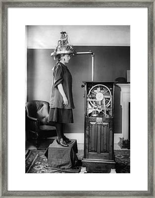 Mind Machine Framed Print by Topical Press Agency