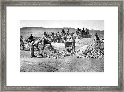 Mine Workers Framed Print by Robert Harris