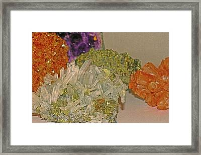 Framed Print featuring the photograph Mineral Medley 7 by Lynda Lehmann