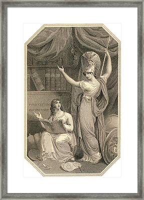 Minerva Directing Study To The  Attainment Of Universal Knowledge Framed Print