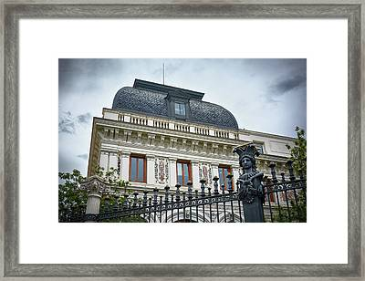 Ministry Of Agriculture Building Of Madrid Framed Print