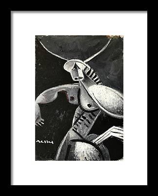 Minotaur Framed Prints