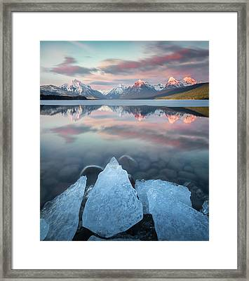 Mirrored Reflection / Lake Mcdonald, Glacier National Park  Framed Print