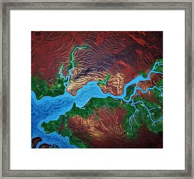 Mission River Framed Print
