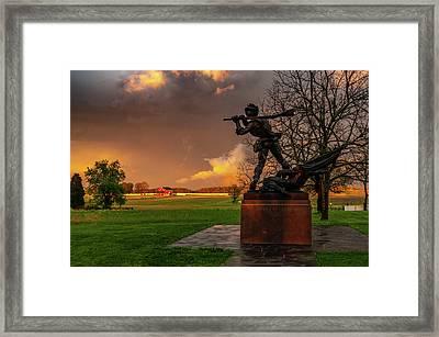Mississippi Storm Framed Print
