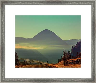 Framed Print featuring the photograph Misty Mountain Morning by Pete Federico