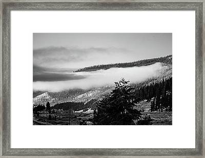 Framed Print featuring the photograph Misty Mountain  by Pete Federico