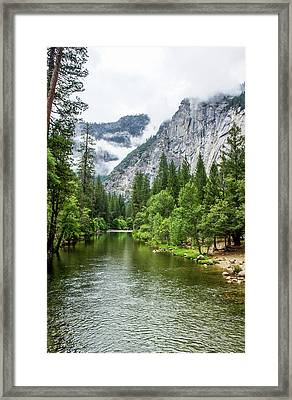 Misty Mountains, Yosemite Framed Print