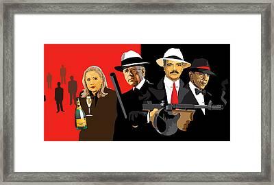 Mobsters Framed Print