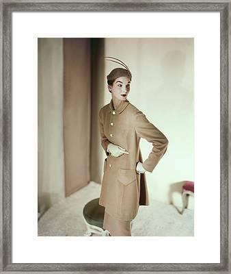 Model In An Originala Suit Framed Print by Horst P. Horst