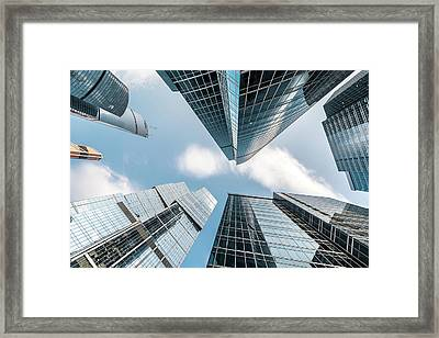 Modern Skyscrapers Framed Print by Yongyuan Dai