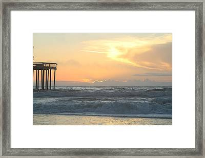 Framed Print featuring the photograph Moment Before Sunrise by Robert Banach