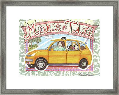 Mom's Taxi Framed Print