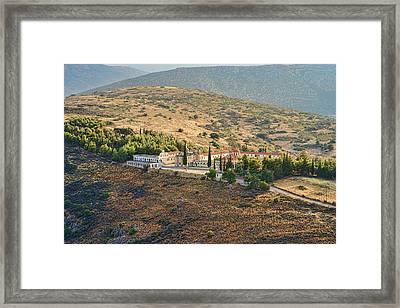 Monastery Agion Anargiron Above Argos Framed Print