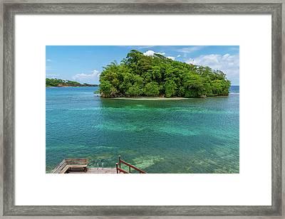 Monkey Island In Portland Jamaica Framed Print