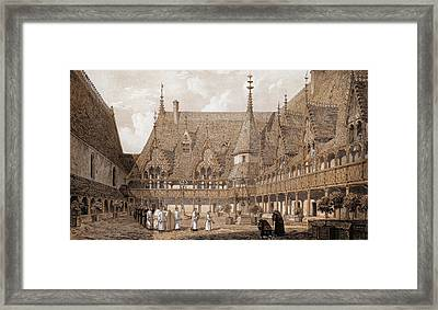 Monks At The Hotel Dieu Framed Print by Hulton Archive