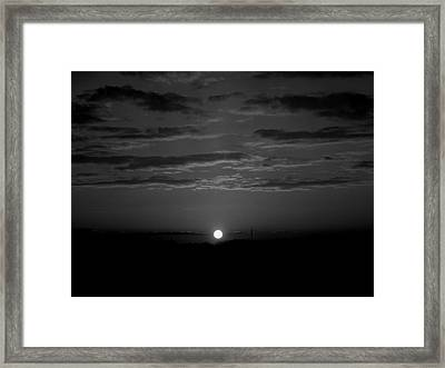Framed Print featuring the photograph Monochrome Sunrise by Bee-Bee Deigner