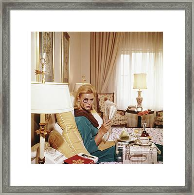 Monocled Miss Framed Print