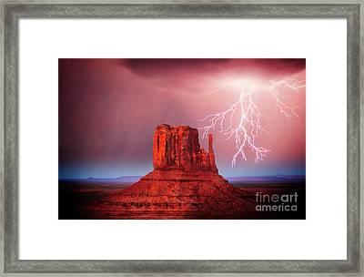 Monsoon Storm Framed Print