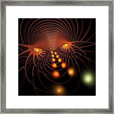 Framed Print featuring the digital art Monster's Eyes by Anastasiya Malakhova