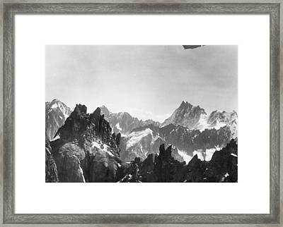 Mont Blanc Peaks Framed Print by Three Lions