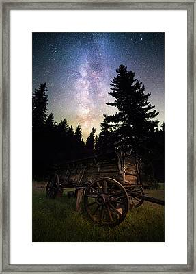 Framed Print featuring the photograph Montana Relic / Seeley Lake, Montana  by Nicholas Parker
