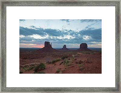 Monument Valley Before Sunrise Framed Print