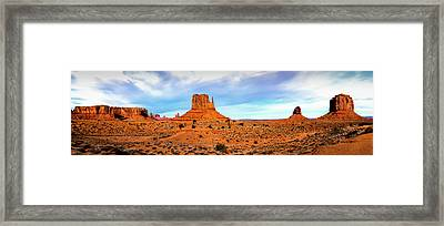 Framed Print featuring the photograph Monument Valley by David Morefield