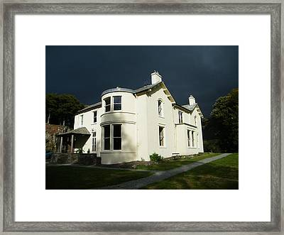 Framed Print featuring the photograph Moody Sky Over Allen Bank by JLowPhotos