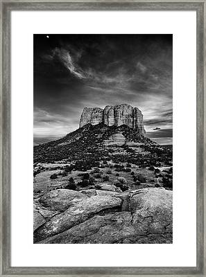 Moody Sunset At The Courthouse Framed Print