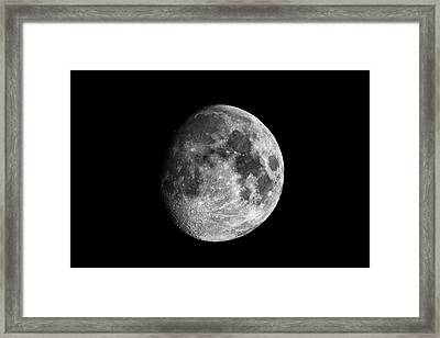 Framed Print featuring the photograph Moon by Grant Glendinning