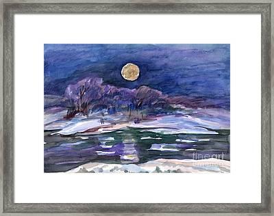 Moon Landscape Framed Print
