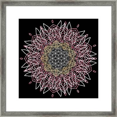 Framed Print featuring the digital art Moon Mandala by Bee-Bee Deigner