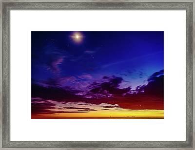 Moon Sky Framed Print