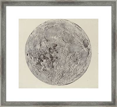Moon With Craters Framed Print