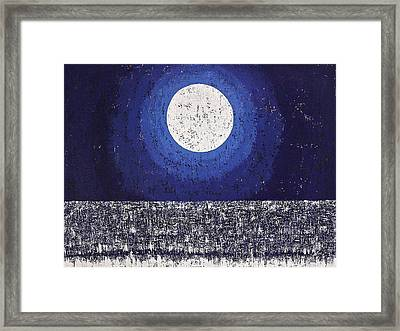 Moonbathing Original Painting Framed Print