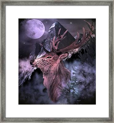Moonlight Buck Framed Print
