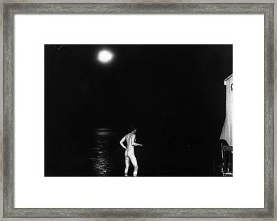 Moonlight Dipper Framed Print by Topical Press Agency