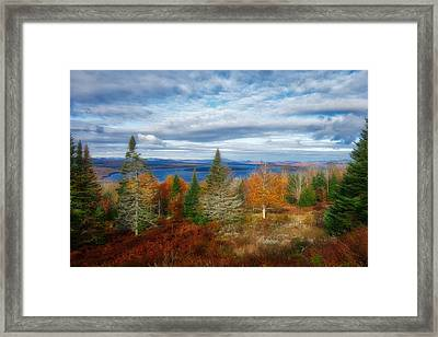 Mooselookmeguntic Lake Fall Colors Framed Print