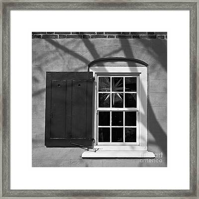 Framed Print featuring the photograph Moravian Window by Patrick M Lynch