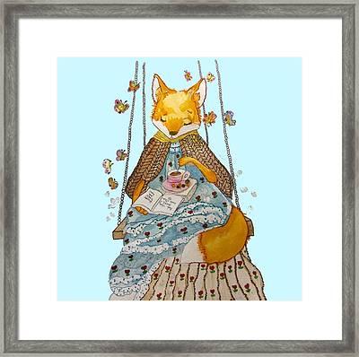 Morgan's Fox Framed Print