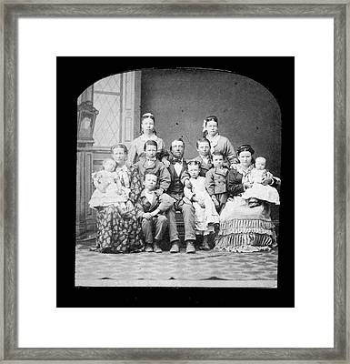 Mormon Family Framed Print by Kean Collection