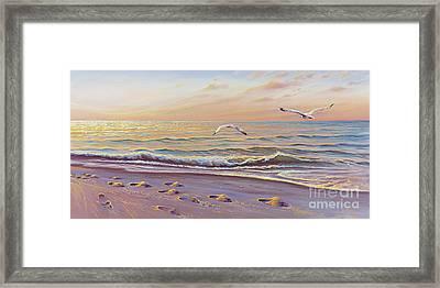 Morning Glisten Framed Print