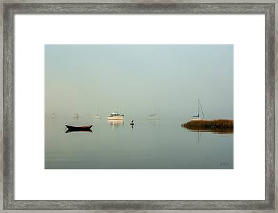 Framed Print featuring the photograph Morning Mist Bristol Harbor II by David Gordon