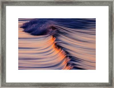 Morning Wave Framed Print