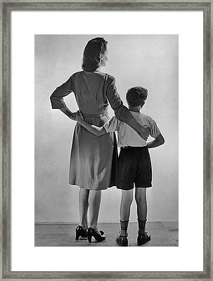 Mother And Son Framed Print by Fpg